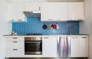 Blue tiles kitchen