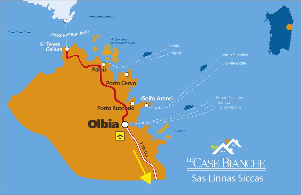 Cartina Sardegna Con Aeroporti.Mappa Interattiva Su Come Raggiungere Gli Appartamenti